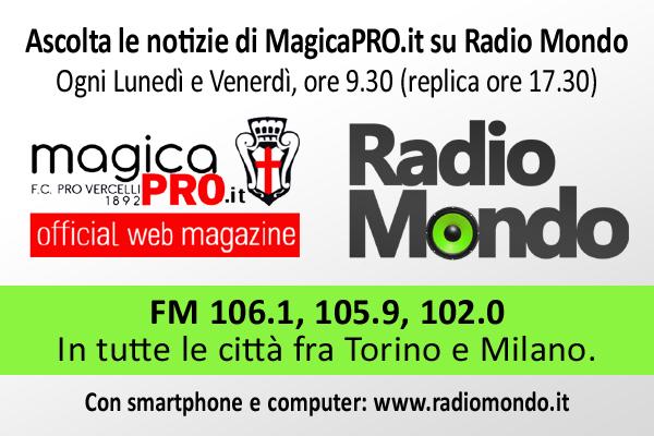 """""""Mondo Sport"""": con la Pro Vercelli debuttano i nuovi programmi"""